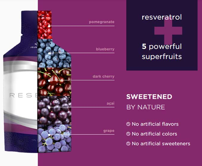 Jeunesse Reserve - Resveratrol Acai Powerful Antioxidants Gel